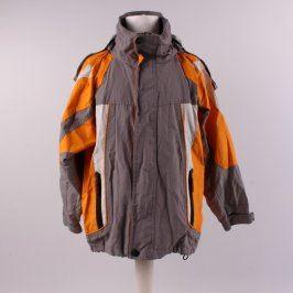 Dětská bunda Peng Ming šedobílooranžová