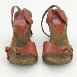 Dámské sandále Amisu hnědé