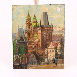 Obraz zasklený Mostecká brána Praha