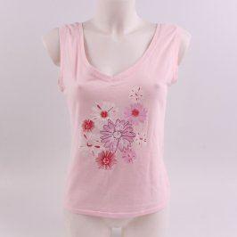 Dámský top Onno růžový s motivy květin