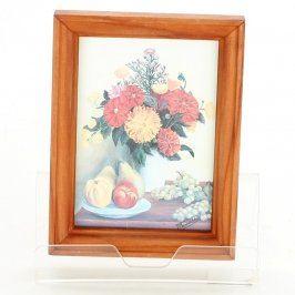 Obraz zátiší s květinami a ovocem