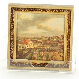 Obraz v rámu s motivem historické jízdárny