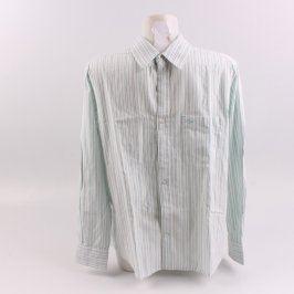 Pánská košile George bílá s modrým proužkem