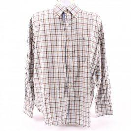 Pánská košile F&F béžová kostkovaná