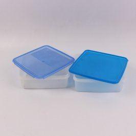 Plastové dózy Miflex s modrými víky