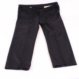 Pánské společenské kalhoty černé na knoflíky
