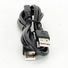 Kabel mini USB / 2 x USB A černý délka 90 cm