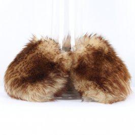 Kožešinový límec liška odstín hnědé