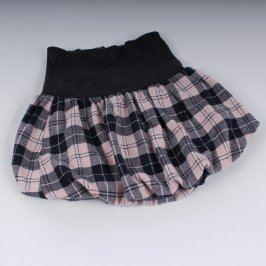 Dívčí sukně Benetton černo růžová kostkovaná