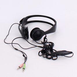 Sluchátka s mikrofonem Lenovo černá