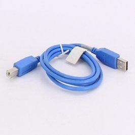 Kabel USB A-B modrý délka 92 cm