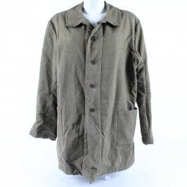 Pánský kabát šedý zapínání na knoflíky