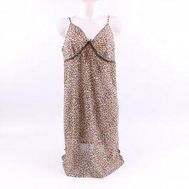 Dámská noční košilka s leopardím vzorem