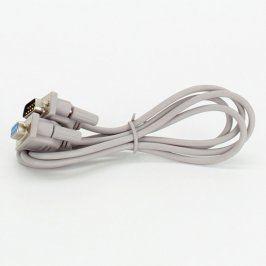 Propojovací kabel VGA M/F šedý 120 cm