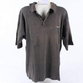 Pánské polo Nike odstín šedé a stříbrné