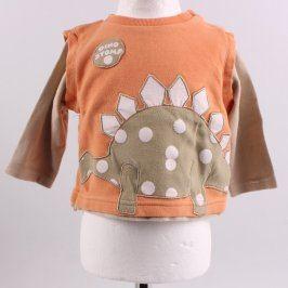 Dětské tričko Adams Kids oranžové s dinem