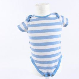 Dětské body F&F modré s bílými proužky