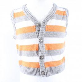 Dětský vestový svetr Next pruhovaný