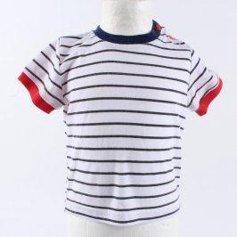 Dětské tričko bílé s proužky