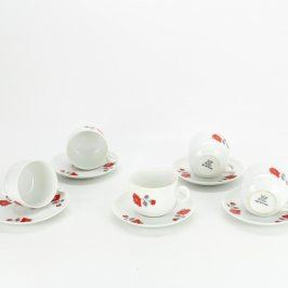 Porcelánový servis hrnečky s podšálky