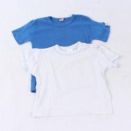Dětská trička Dirkje bílé a modré