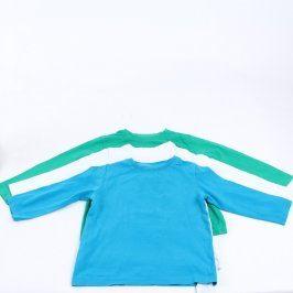 Trojpack jednobarevných triček Kiki & Koko