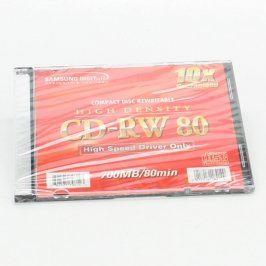 10xCD-RW Samsung 700 MB/80 min + 1xCD-R TDK