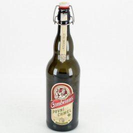 Skleněná pivní láhev s uzávěrem