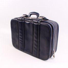Cestovní kufr kožený tmavě modrý