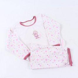Dívčí pyžamo bílorůžové s andílkem