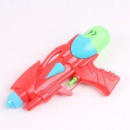 Dětská vodní pistole červeno modro zelená