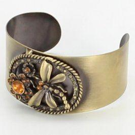 Dámský náramek ocelový s motivem motýla