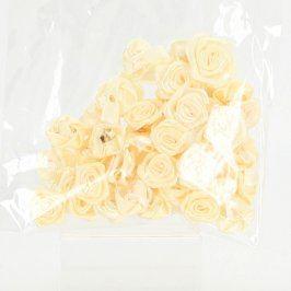 Saténové růžičky béžové 15 mm
