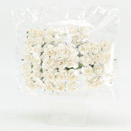 Korsáže papírové 7 kytic po 12 růžičkách