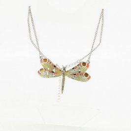 Náhrdelník s přívěskem zelené vážky