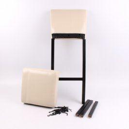 Barová stolička krémová