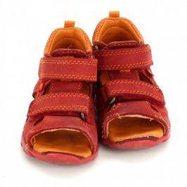 Dětské sandále Elefanten červenooranžové
