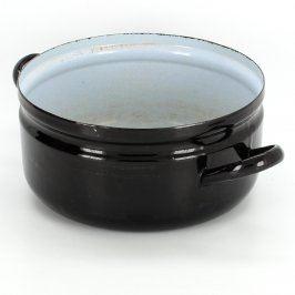Hrnec černý smaltovaný průměr 22 cm
