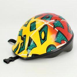Dětská cyklistická helma žlutočervená