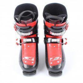 Dětské lyžařské boty Nordica černo-červené