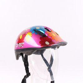 Dětská helma Cytec růžová s barevnými květy