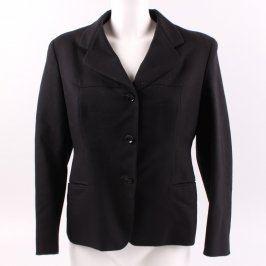 Dámské sako černé barvy na knoflíky