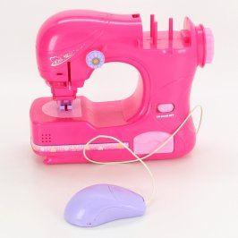 Šicí stroj plastový růžový