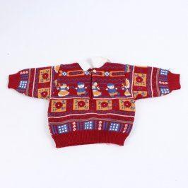 Dětský svetr červený s límečkem