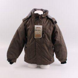 Dětská bunda YDI odstín hnědé