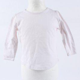 Dětské tričko Next bílé s dlouhým rukávem