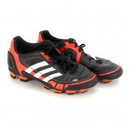 Dětské kopačky Adidas černé s prvky oranžové