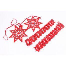 Vánoční dekorace - hvězdy, girlandy