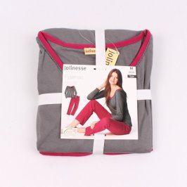 Dámské dlouhé pyžamo Jolinesse červené