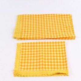 Dečky kostkované oranžovo-žluté